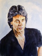 Celebrity Portrait Prints - Rick Springfield Print by Brian Degnon