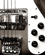 Bass Bridge Prints - Rickenbacker Bass Print by Chris Berry