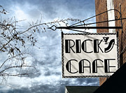 Small Towns Metal Prints - Ricks Cafe Metal Print by Ellen Cotton