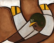Baseball Paintings - Ricky Henderson Stealing Base by Tommervik