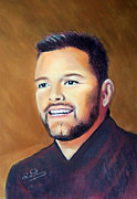 Featured Pastels - Ricky Martin by Ruth Jamieson