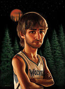 Nba Drawings Framed Prints - Ricky Rubio Framed Print by Derek Wehrwein