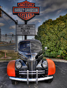 Harley Davidson Framed Prints - Ride A Harley Framed Print by Todd Hostetter