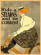 Vintage Travel Digital Art Framed Prints - Ride A Stearns Framed Print by Gary Grayson