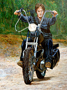 Walking Dead Paintings - Ride Dont Walk by Tom Roderick