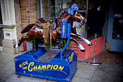 Coin Photo Prints - Ride The Champion Print by Garry Gay