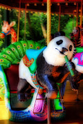Street Fairs Prints - Ride The Panda Print by Skip Willits