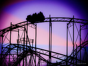 Roller Coaster Metal Prints - Ride the Wild Cat Metal Print by Colleen Kammerer