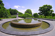 Ottawa Framed Prints - Rideau Hall Garden Fountain Framed Print by Charline Xia