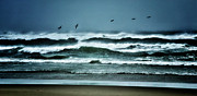 Storm Prints Photo Metal Prints - Riders on the Storm 1 - Outer Banks Metal Print by Dan Carmichael