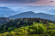 Cowee Mountain Overlook Prints - Ridges at Sunset Print by Joye Ardyn Durham