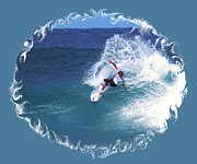 Triple Crown Of Surfing Posters - Riding a Wave Poster by Scott Cameron