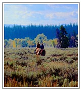 Struckle Framed Prints - Riding In The Tetons Framed Print by Kathleen Struckle