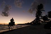 Riding On The Beach Print by Adam Romanowicz