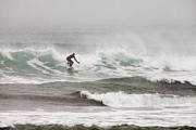 Kodiak Photo Prints - Riding the Waves in a Snow Storm Print by Tim Grams