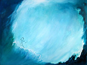 Surfing Art Paintings - Riding the Waves by Mary Kay Holladay