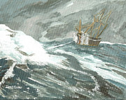Illustration Painting Originals - Riding the Waves on the Sea by Ian Donley