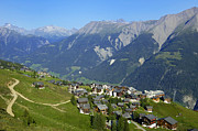 Swiss Metal Prints - Riederalp Valais Swiss Alps Switzerland Metal Print by Matthias Hauser