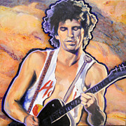 Keith Richards Painting Originals - Riffmaster I by Carole Diane Heslin