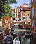 Lagoon Framed Prints - Riflessi Di Venezia Framed Print by Guido Borelli