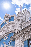 Old Stone House Photos - Riga Art Nouveau District 01 by Antony McAulay