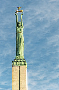 Star Alliance Framed Prints - Riga Freedom Monument Framed Print by Antony McAulay
