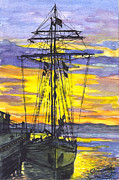 Carol Wisniewski - Rigging in the Sunset