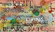 John Wayne Mixed Media - Right and Wrong by Tim Oliver