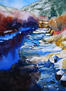 Wyoming Paintings - Right Bank by Kris Parins