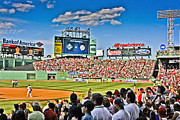 Red Sox Metal Prints - Right Field Metal Print by Dennis Coates