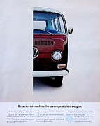 Volkswagon Posters - Right Half Poster by Benjamin Yeager