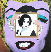 Elizabeth Taylor Painting Originals - Right In The Middle by Ralph LeCompte