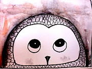 Owl Greeting Card Prints - Right Thoughts Print by Trilby Cole