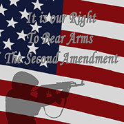 Right Digital Art - Right to Bear Arms by Ernie Echols