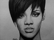 Rihanna Drawings - Rihanna by Carlos Velasquez Art