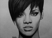 Rihanna Print by Carlos Velasquez Art