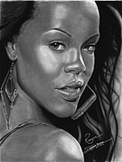 Seductive Drawings - Rihanna by Dainna Hudson