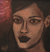 Rihanna Paintings - Rihanna by Francois Falet
