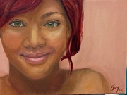 Rihanna Painting Prints - Rihanna Print by Guy Elhanani