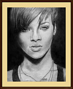 Rihanna Drawings - Rihanna by Josue Neftali