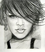 Rihanna Drawings Originals - Rihanna by Patrice Torrillo