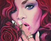 Album Prints - Rihanna Print by Shirl Theis