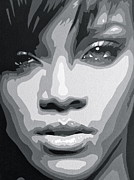 Optical Art Originals - Rihanna  by Siobhan Bevans