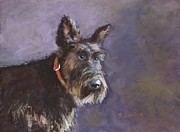Cute Dog Pastels - Riley 1 by Joyce A Guariglia