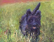 Cute Dog Pastels - Riley by Joyce A Guariglia