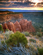 Scenic Drive Prints - Rim Drive Sunrise Print by Ray Mathis