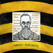 Bumblebee Drawings - Rimsky-Korsakov by Paul Helm