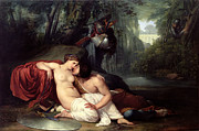 First Love Painting Prints - Rinaldo and Amida Print by Francesco Hayez