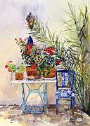 Andalucia Paintings - Rincon de Jardin by Margaret Merry