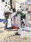 Andalucia Paintings - Rincon de Sacromonte by Margaret Merry